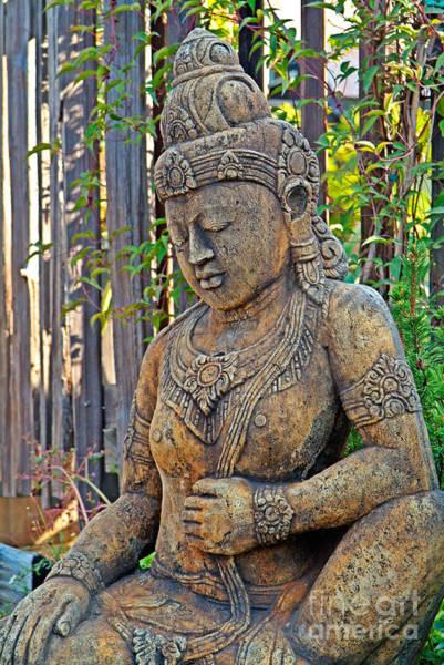 Photograph - Quan Yin Statue by Charlene Mitchell