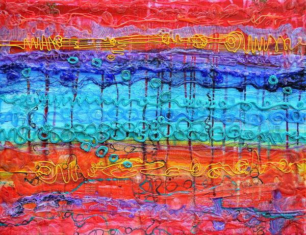 Quantum Physics Painting - Quantum Cascade by Regina Valluzzi