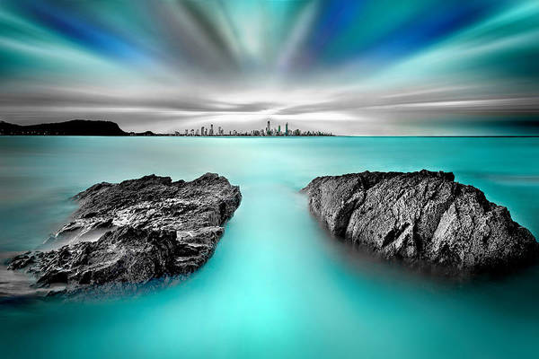Beach City Photograph - Quantum Divide by Az Jackson