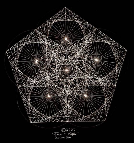 Hand Drawn Drawing - Quantum Star II by Jason Padgett