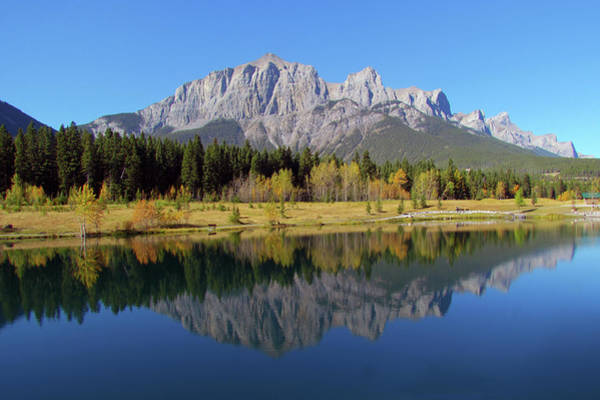 Canmore Photograph - Quarry Lake by Images By Nancy Chow