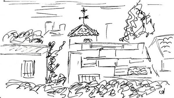Drawing - Quarter Montemar In Torremolinos by Chani Demuijlder