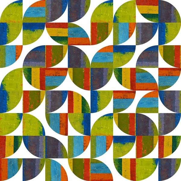 Design Digital Art - Quarter Rounds 64 by Michelle Calkins