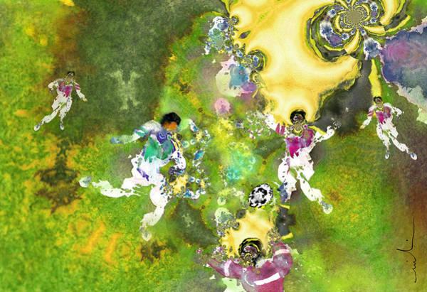 Painting - Quarterback Dance by Miki De Goodaboom