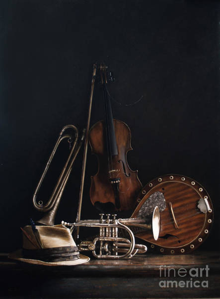 Bugling Wall Art - Painting - Quartet No.2 by Lawrence Preston