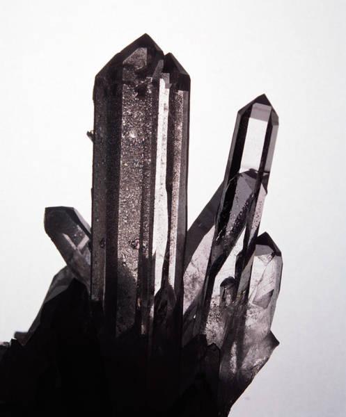 Quartz Photograph - Quartz Crystals by Lawrence Lawry/science Photo Library
