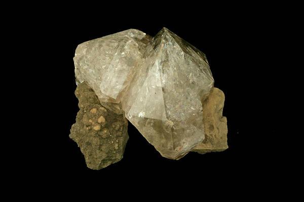 Quartz Photograph - Quartz Variety Herkimer Diamond by Science Stock Photography/science Photo Library