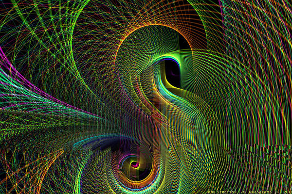 Digital Art - Quasarama  by Ann Stretton