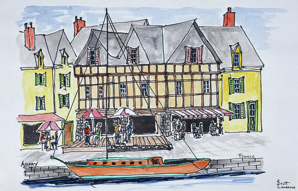 Alfresco Wall Art - Photograph - Quay Franklin In The Old Port by Richard Lawrence