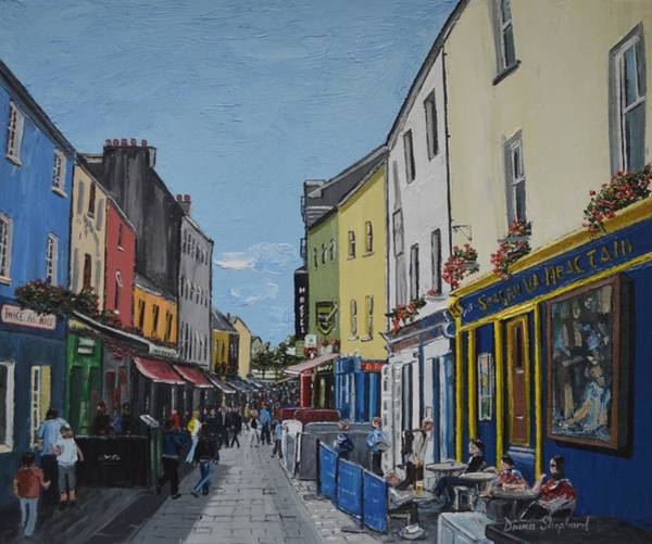 Galway Painting - Quay St Galway Ireland by Diana Shephard