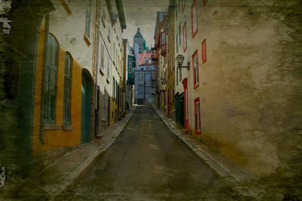 Quebec City Digital Art - Quebec City French Street Scene Fine Art Photograph Print by Laura Carter