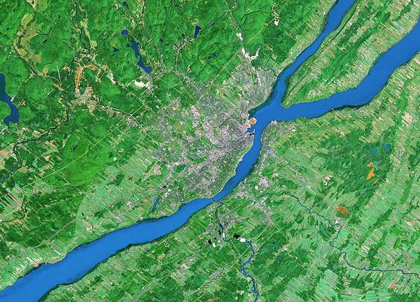 Quebec City Photograph - Quebec City by Worldsat International/science Photo Library