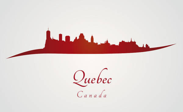 Quebec City Digital Art - Quebec Skyline In Red by Pablo Romero