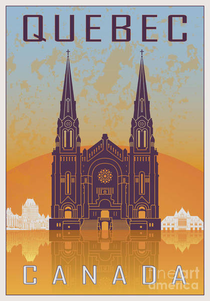 Quebec City Digital Art - Quebec Vintage Poster by Pablo Romero