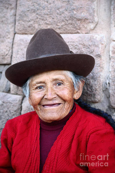 Photograph - Quechua Lady In Cusco by James Brunker