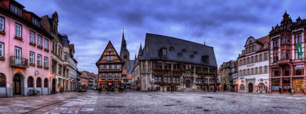Wall Art - Pyrography - Quedlinburg Markt Panorama by Steffen Gierok