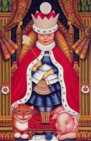 Ermine Wall Art - Photograph - Queen Alice, 2008 Oil And Tempera On Panel by Frances Broomfield