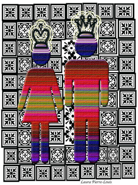 Wall Art - Digital Art - Queen And King by Laura Pierre-Louis