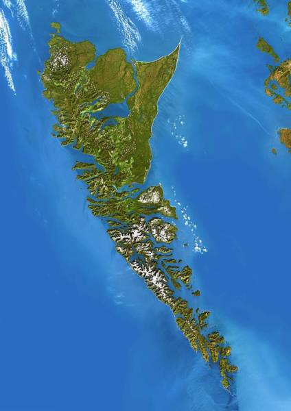 Queen Charlotte Islands Wall Art - Photograph - Queen Charlotte Islands by Planetobserver/science Photo Library