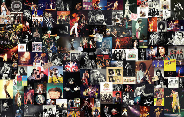 Glam Rock Digital Art - Queen Collage by Zapista Zapista