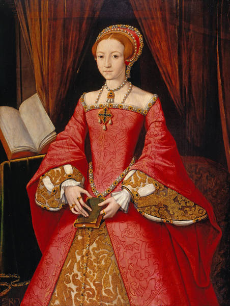 Elizabethan Wall Art - Painting - Queen Elizabeth As A Princess by William Scrots