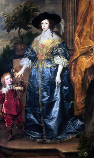 Painting - Queen Henrietta Maria (1609-69) by Granger