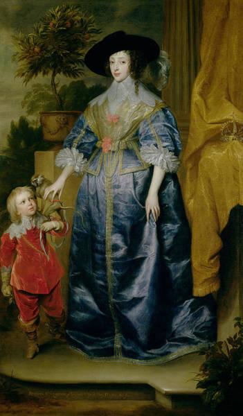 Juliet Wall Art - Photograph - Queen Henrietta Maria And Her Dwarf Sir Jeffrey Hudson, C.1633 by Sir Anthony van Dyck