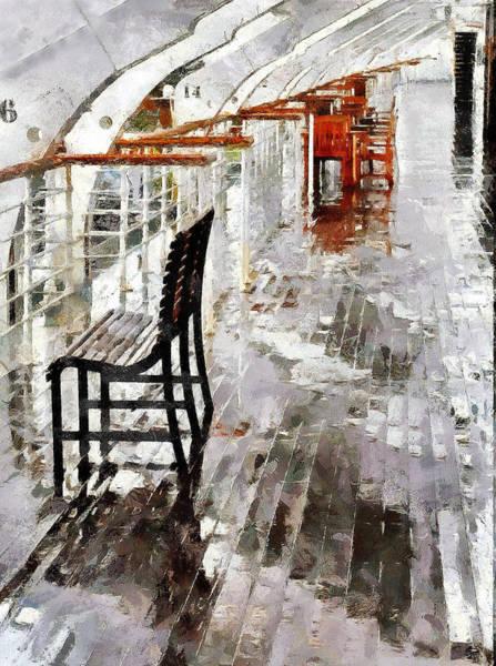 Deck Digital Art - Queen In The Rain by Cary Shapiro
