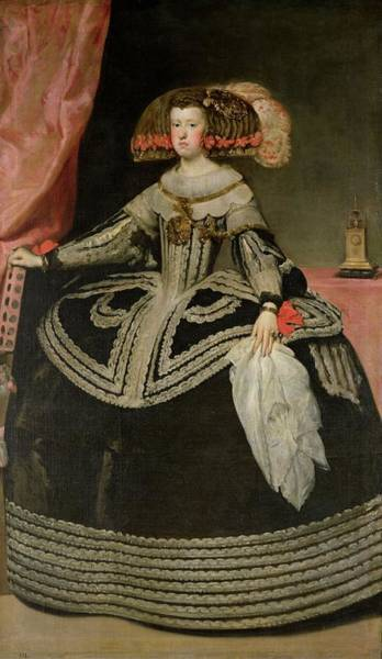 Disgusting Photograph - Queen Maria Anna Of Austria 1634-96, C. 1652 Oil On Canvas by Diego Rodriguez de Silva y Velazquez