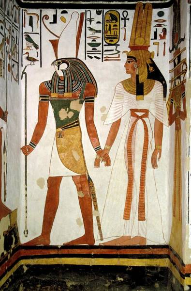 Wall Art - Photograph - Queen Nefertari And Horus by Patrick Landmann/science Photo Library