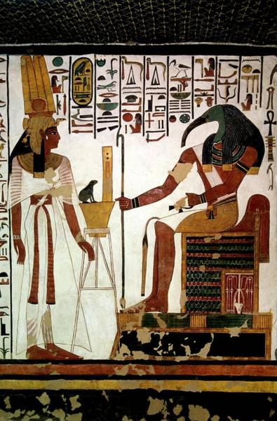 Hieroglyph Photograph - Queen Nefertari And Throth by Patrick Landmann/science Photo Library