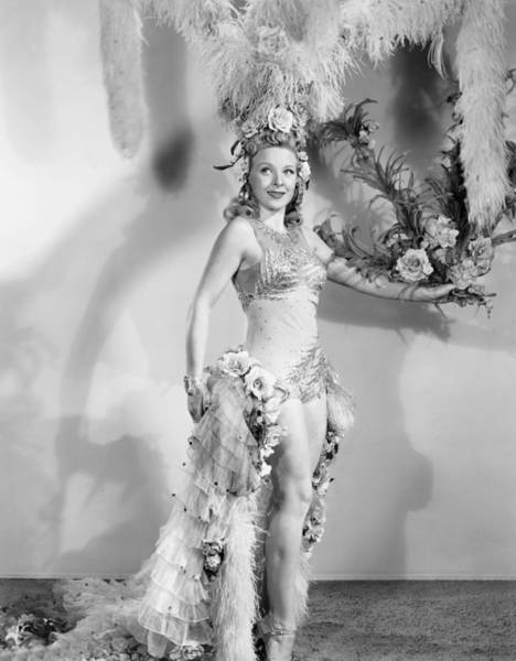 Burlesque Dancer Photograph - Queen Of Burlesque, Evelyn Ankers, 1946 by Everett