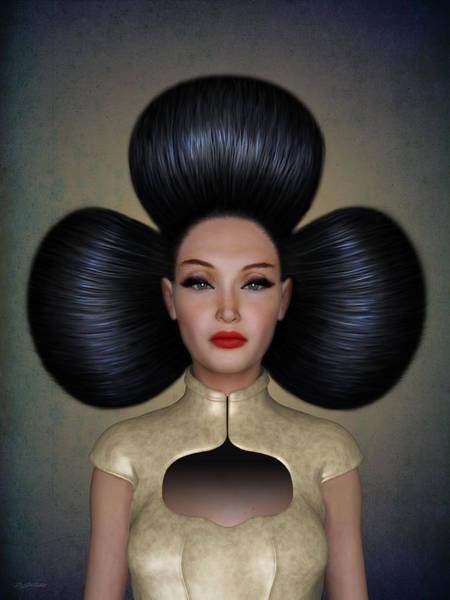 Hairdo Digital Art - Queen Of Clubs by Britta Glodde