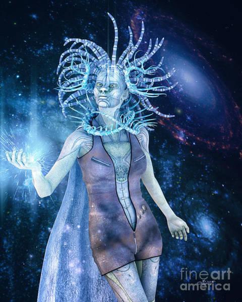 Digital Art - Queen Of Distant Galaxies by Jutta Maria Pusl