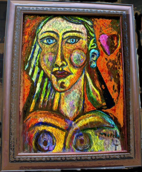 Wall Art - Painting - Queen Of Heart by Noredin morgan