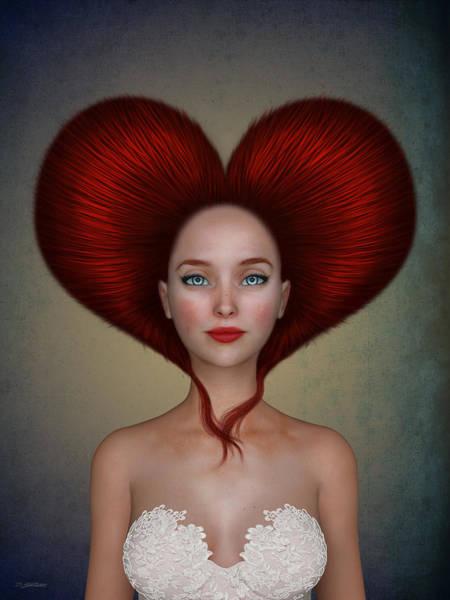 Red Heart Digital Art - Queen Of Hearts by Britta Glodde