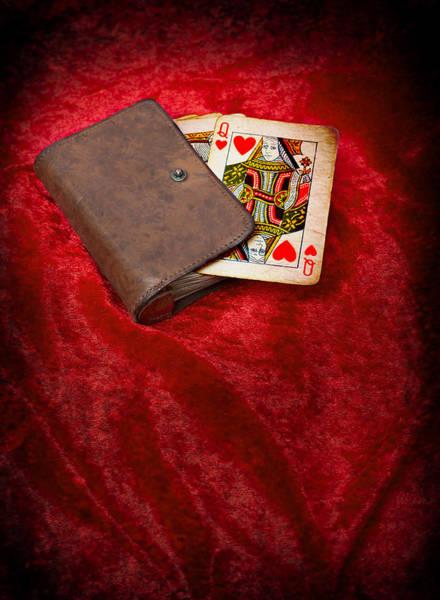 Wallet Wall Art - Photograph - Queen Of Hearts by Amanda Elwell