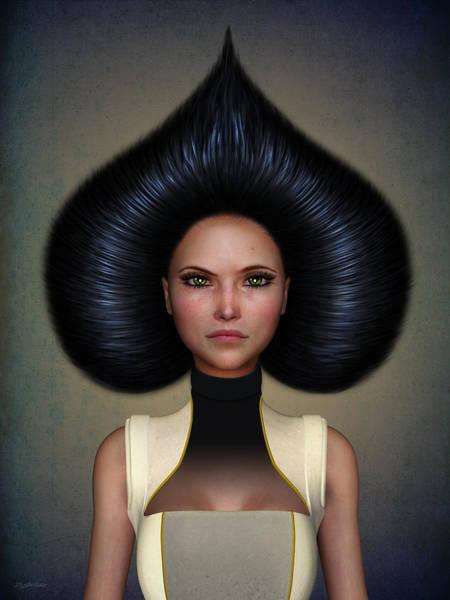 Hairdo Digital Art - Queen Of Spades by Britta Glodde