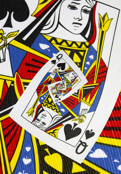 Photograph - Queen Of Spades Collage by Kurt Van Wagner