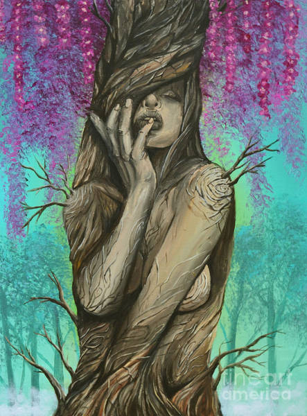 Wall Art - Painting - Queen Of The Treefolk by Ryan May