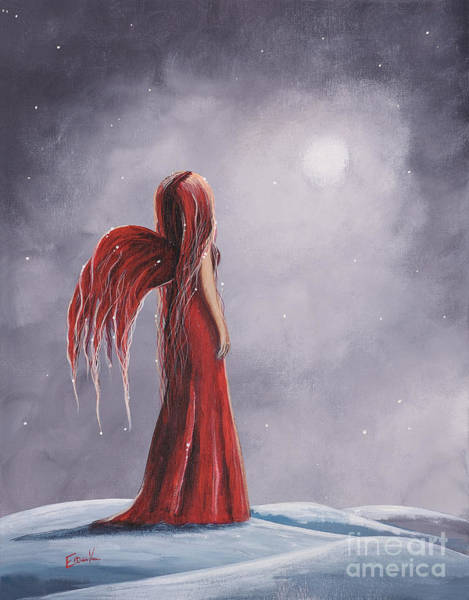 Faceless Painting - Queen Of The Winter Nights By Shawna Erback by Erback Art