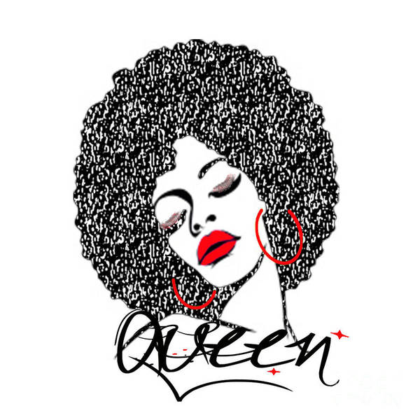 Wall Art - Digital Art - Queen by Respect the Queen