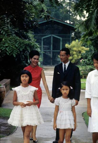 Facade Photograph - Queen Sirikit And Members Of The Thai Royal by Henry Clarke