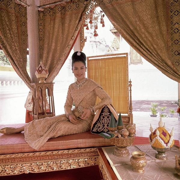 Bed Photograph - Queen Sirikit At The Grand Palace by Henry Clarke
