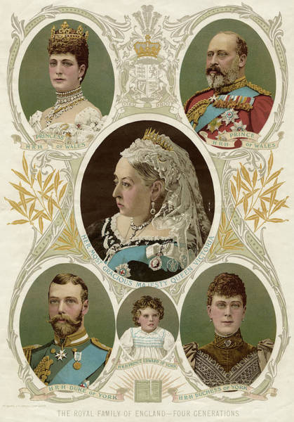 Wall Art - Drawing - Queen Victoria & Family -  Four by Mary Evans Picture Library