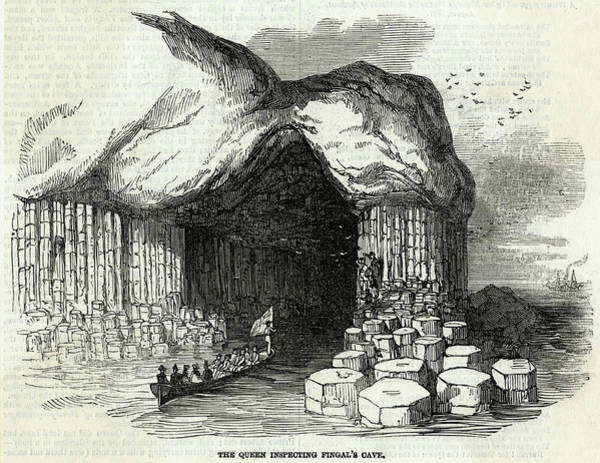 Wall Art - Drawing - Queen Victoria Sails Into  Fingal's by  Illustrated London News Ltd/Mar