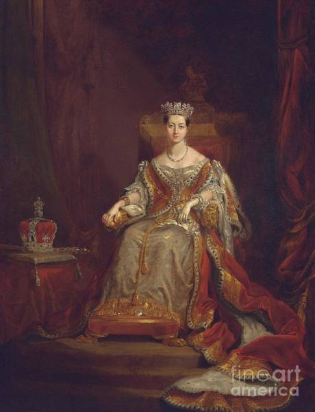 Jewel Painting - Queen Victoria by Sir George Hayter