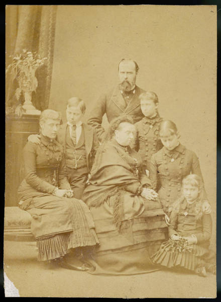 Wall Art - Photograph - Queen Victoria With The Hesse Family by Mary Evans Picture Library
