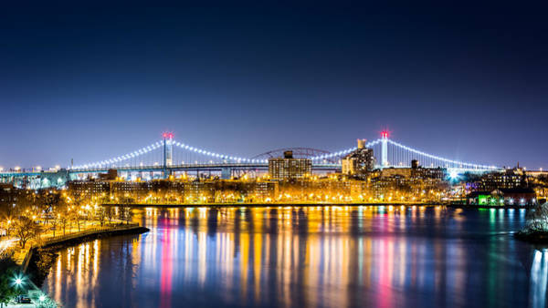 Astoria Bridge Photograph - Queens Cityscape By Night by Mihai Andritoiu