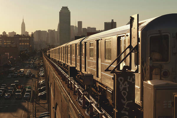 Parking Photograph - Queens Subway by Marcaux